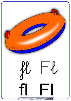 Fichas para trabajar las sílabas fl_