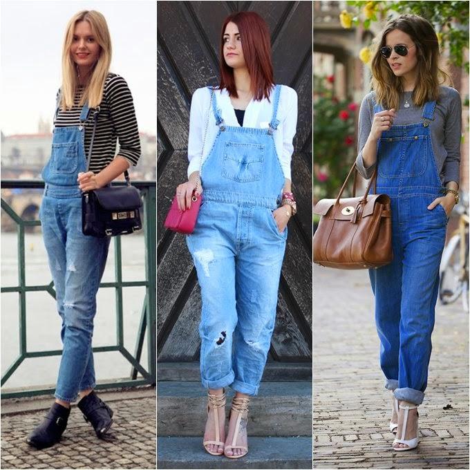 Estilo raquel tend ncia macac es e jardineiras for Jardineira jeans feminina c a
