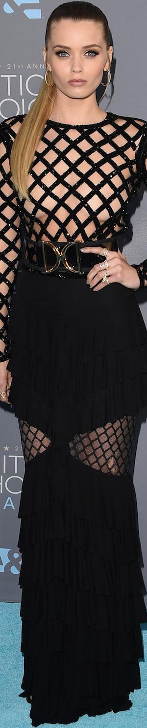 Abbey Lee Kershaw in Zuhair Murad 2016 Critics' Choice Awards