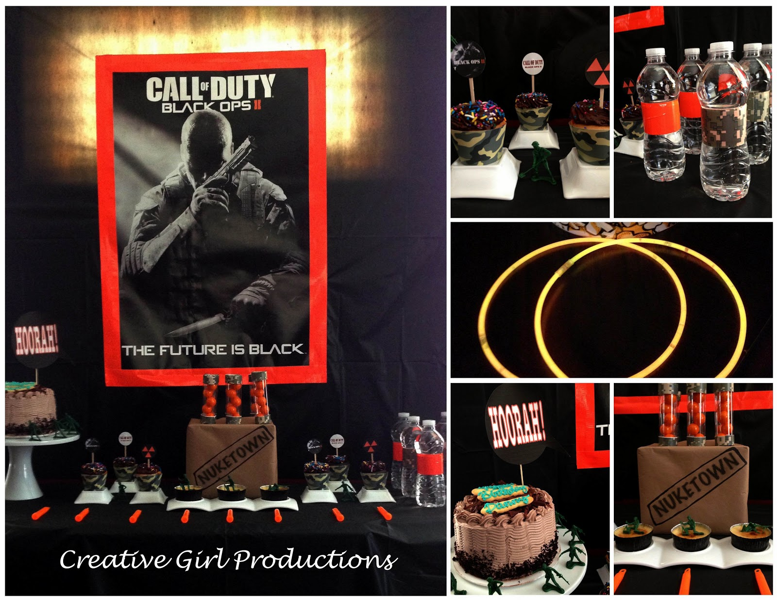 Creative Girl Productions Call of Duty Black Ops II 13th – 13th Birthday Party Invitations for Boys