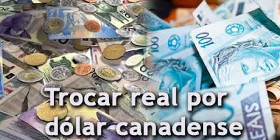 converter reais para dólares canadense