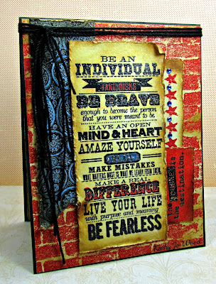 card, grunge, ideas, Phrases 1, Here and There, City Central, impression obsession, inspirational, Tim Holtz, to make,