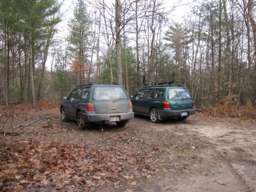 two Subaru Foresters