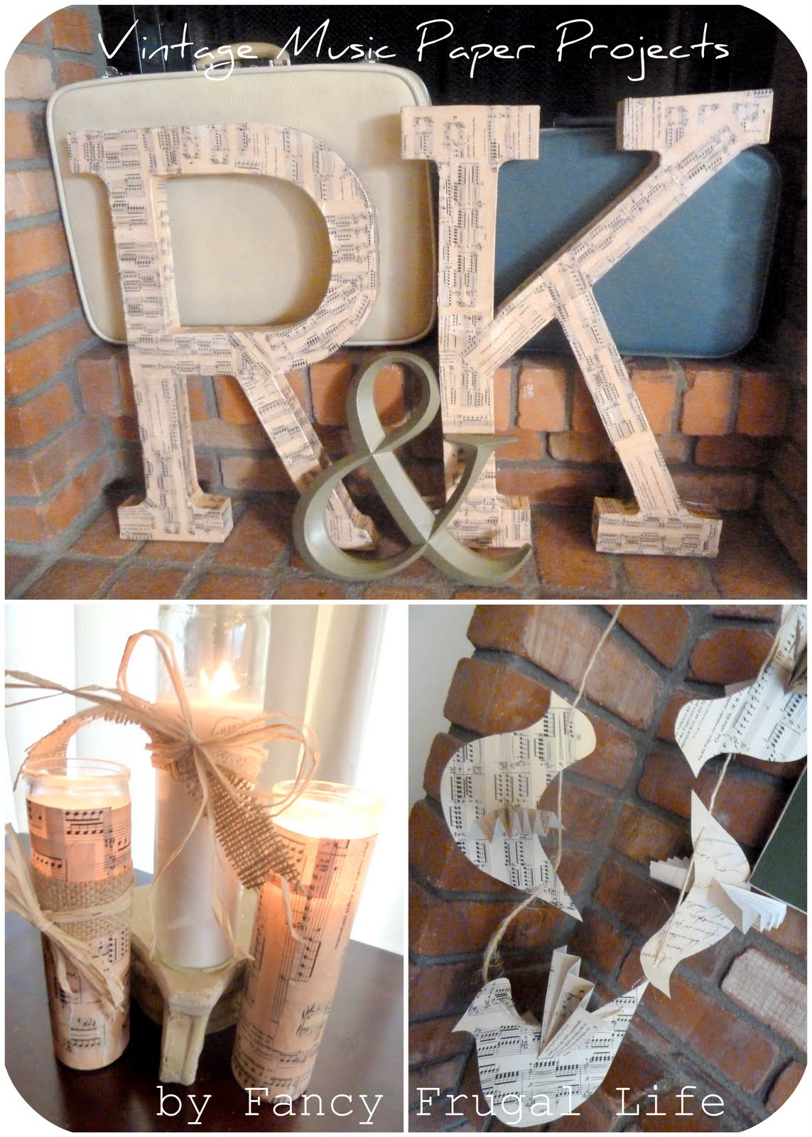 3 vintage music paper wedding projects |