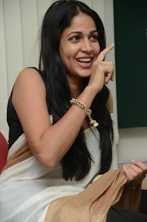 Lavanya Tripathi looks So cute in Beautiful White Saree at Radio Michi