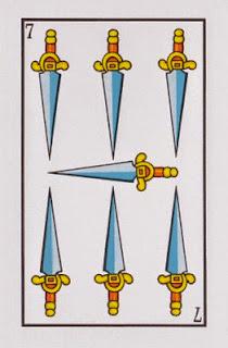 siete de espadas baraja española