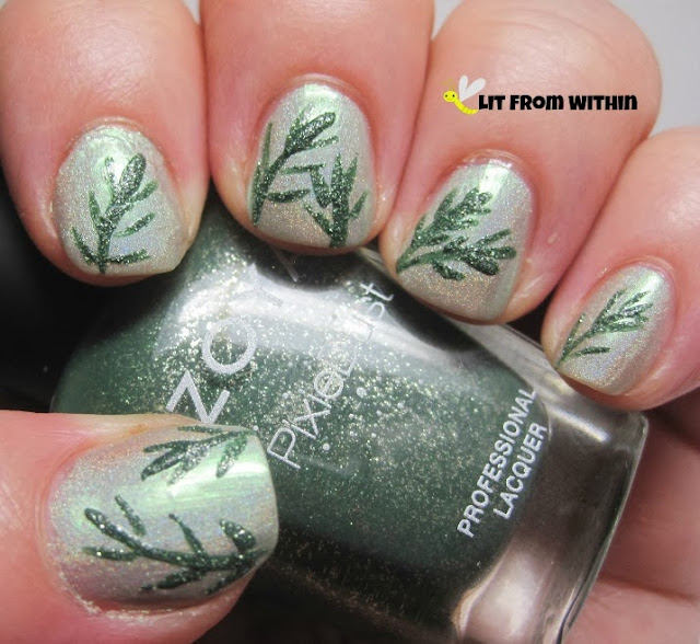 I made the branches in the stunning Zoya Pixie Dust Chita