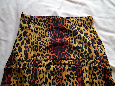 Leopard print Versace for H&M pleated skirt