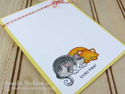 Loves mew cat card with two kitties
