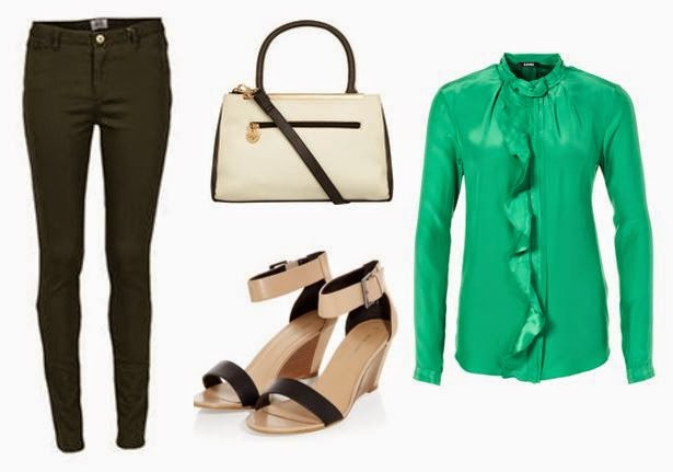 Green Smart Chic Outfit