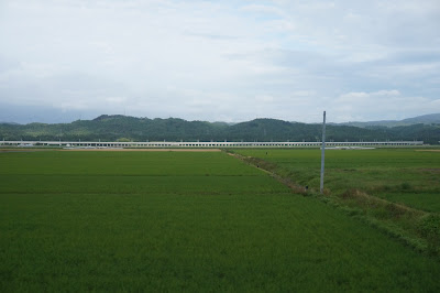 津軽線から撮影した北海道新幹線の高架