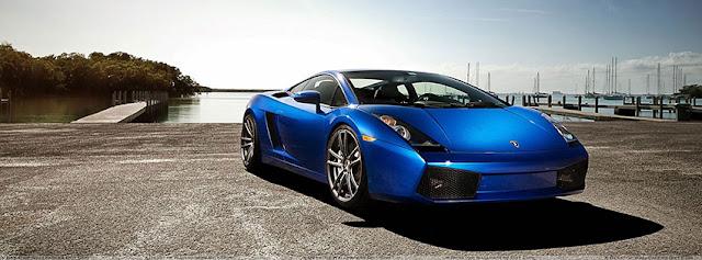 Lamborghini LP560 Blue Facebook Cover