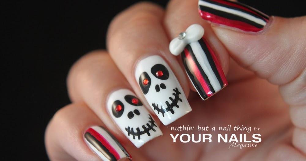 nuthin\' but a nail thing: Halloween Skull Nail Art Tutorial