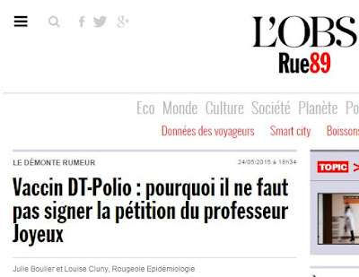 La pétition du professeur Joyeux contre la vaccination forcée fait grincer des dents les médias et la ministre de la santé Capture2
