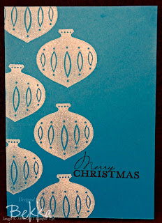 Sparkly Contempo Christmas card