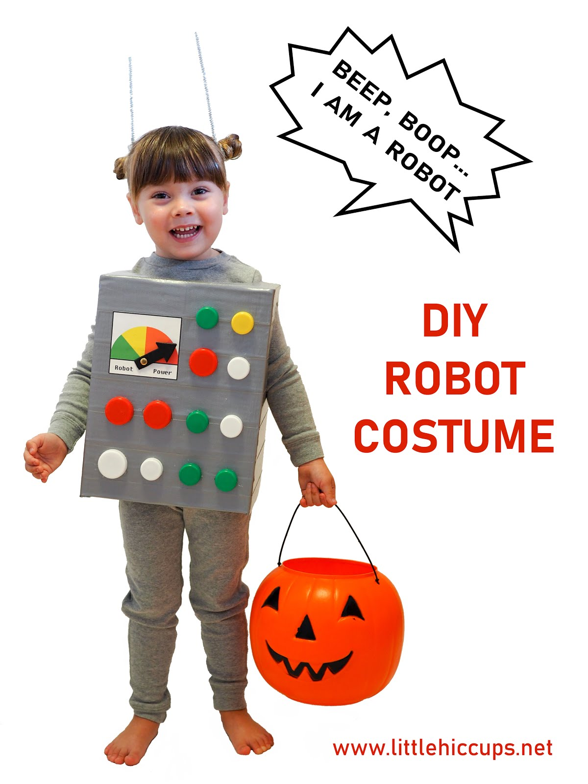 Simple DIY Robot Costume
