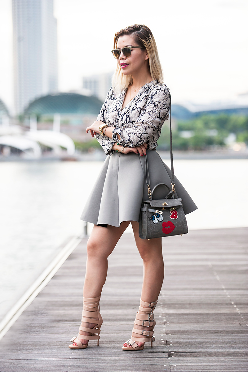 Crystal Phuong- All grey outfit