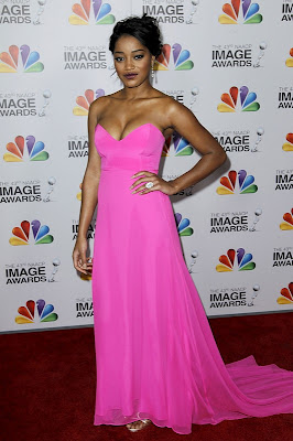 Keke Palmer & Paula Patton In Naven & Monique Lhuillier   Naacp Image