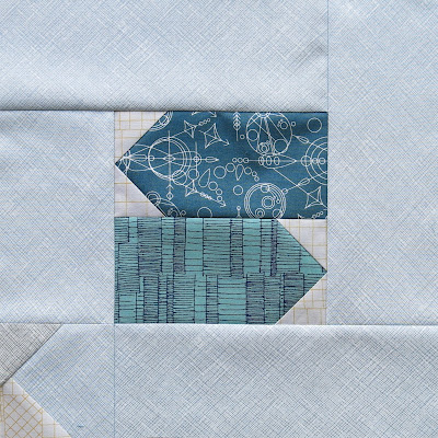 Modern sampler quilt - Block #6 - Inspired by Tula Pink City Sampler