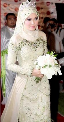 Trend Model Kebaya Muslim untuk Akad Nikah Terbaru