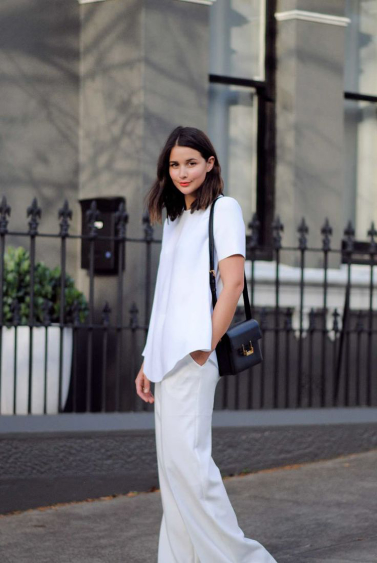 Sara Donaldson from Harper & Harley, Australian babe, street style, monochromatic, Saint Laurent shoulder bag
