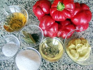 Gogosari in sos de mustar pentru iarna ingrediente reteta