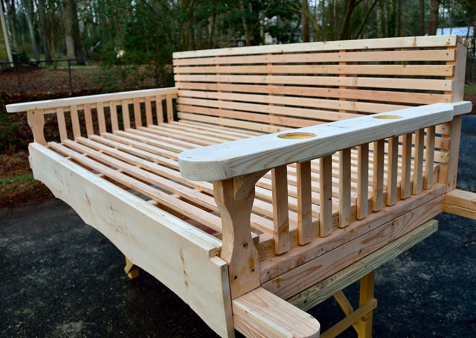 Buckhead Large Wooden Swing Bed For Sale