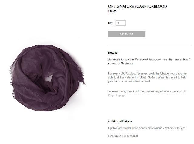 Obakki signature scarf oxblood