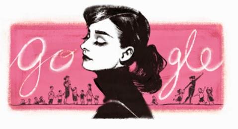 Audrey Hepburn is remembered on Google