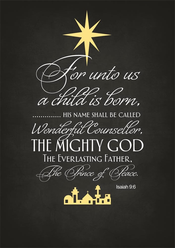 Isaiah 9:6 Merry Christmas Bible
