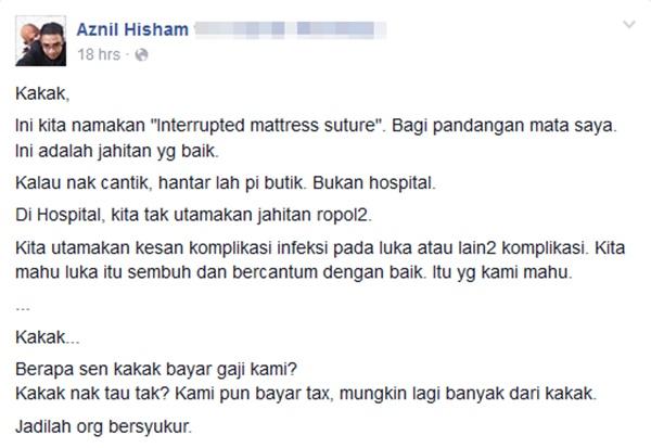 """""""Kalau Nak Cantik, Hantar Lah Pi Butik Bukan Hospital.""""!"""