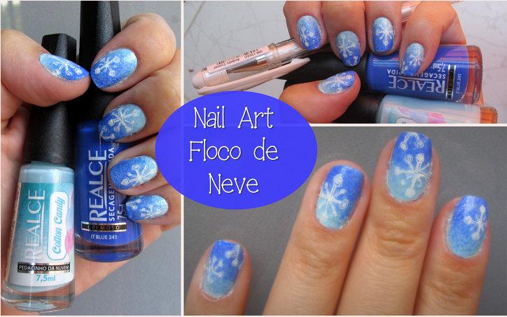 Nail art floco de neve, esmaltes realce, esmaltação usando esponja, Nail art de natal. Unhas natalinas, unhas decoradas, caneta em gel