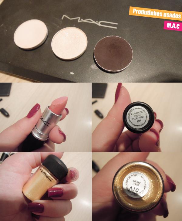 produtos maquiagem MAC, sombras, batom, pigmento