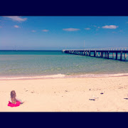 The beach to ourselves, sunshine, warmth, relaxed and easy. (photo )