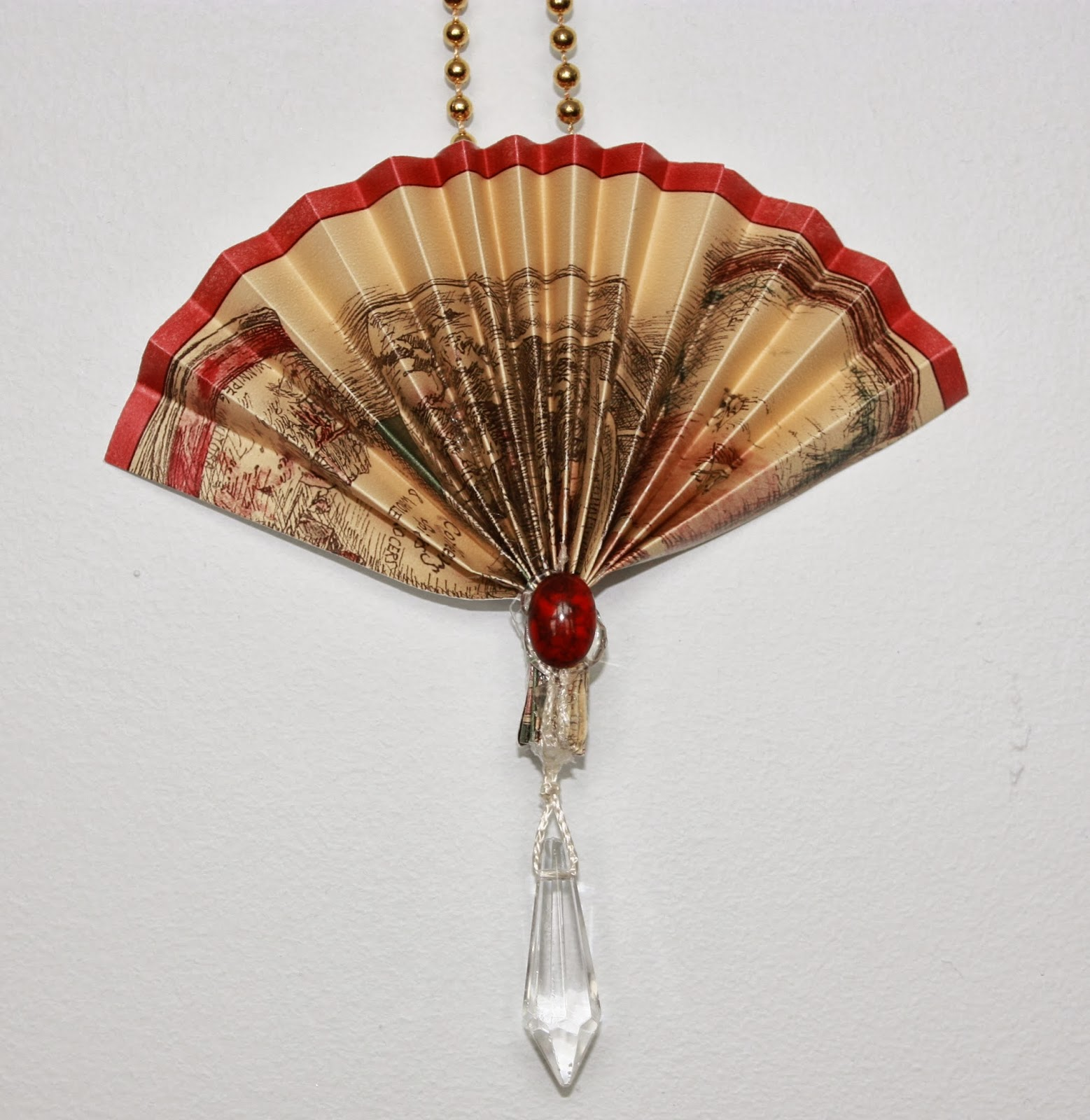 victorian fan christmas ornaments