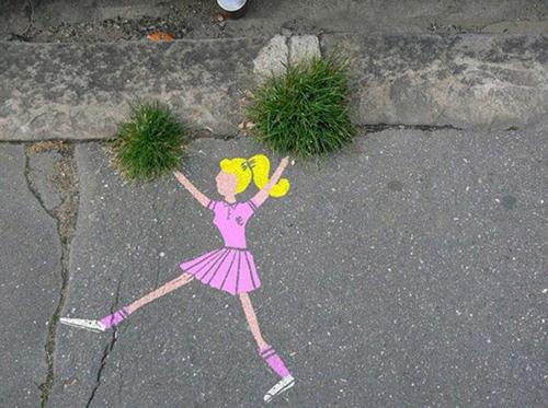 exemplos de arte urbana - Street Art - Cheerleader