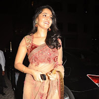 Anushka at an event in saree
