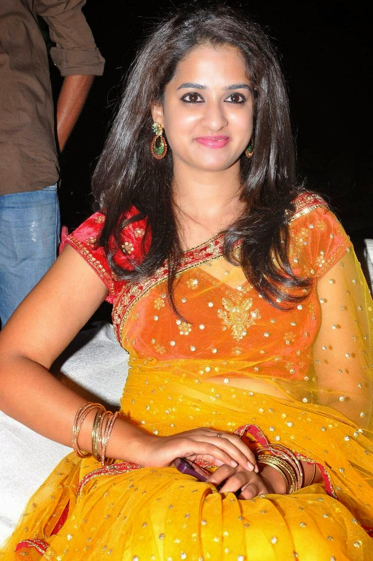 Actress Nanditha Latest Cute Hot Transparent Saree Navel Show Spicy Photos Gallery At Ram Leela Movie Audio Launch