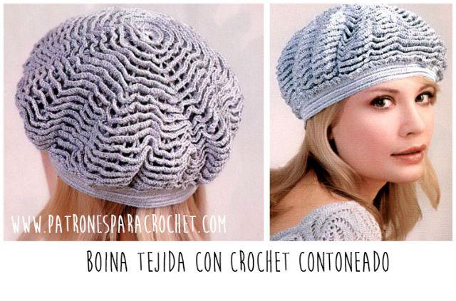 af7318e6c84e3 Cómo tejer una boina al crochet con un diseño muy especial