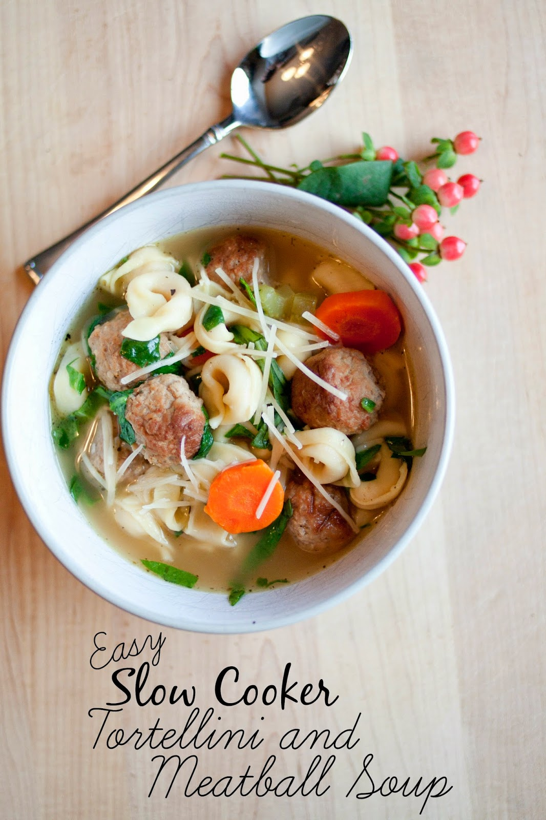 ILYMTC PR and Reviews: Easy Slow Cooker Tortellini and Meatball Soup