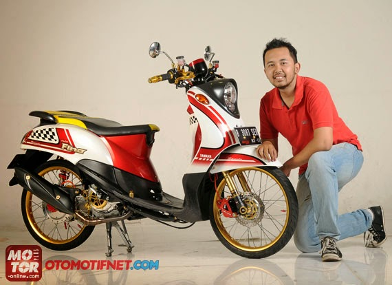 Modifikasi Yamaha Fino Sporty 2014