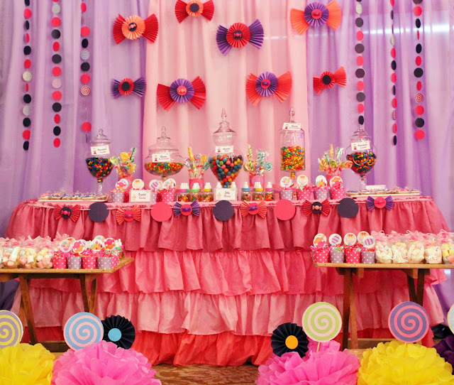 Candyland theme birthday party