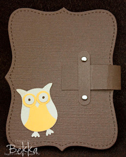 Top Note and Owl Wallet Card