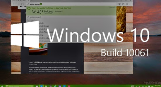 Windows 10 Pro Build 10061