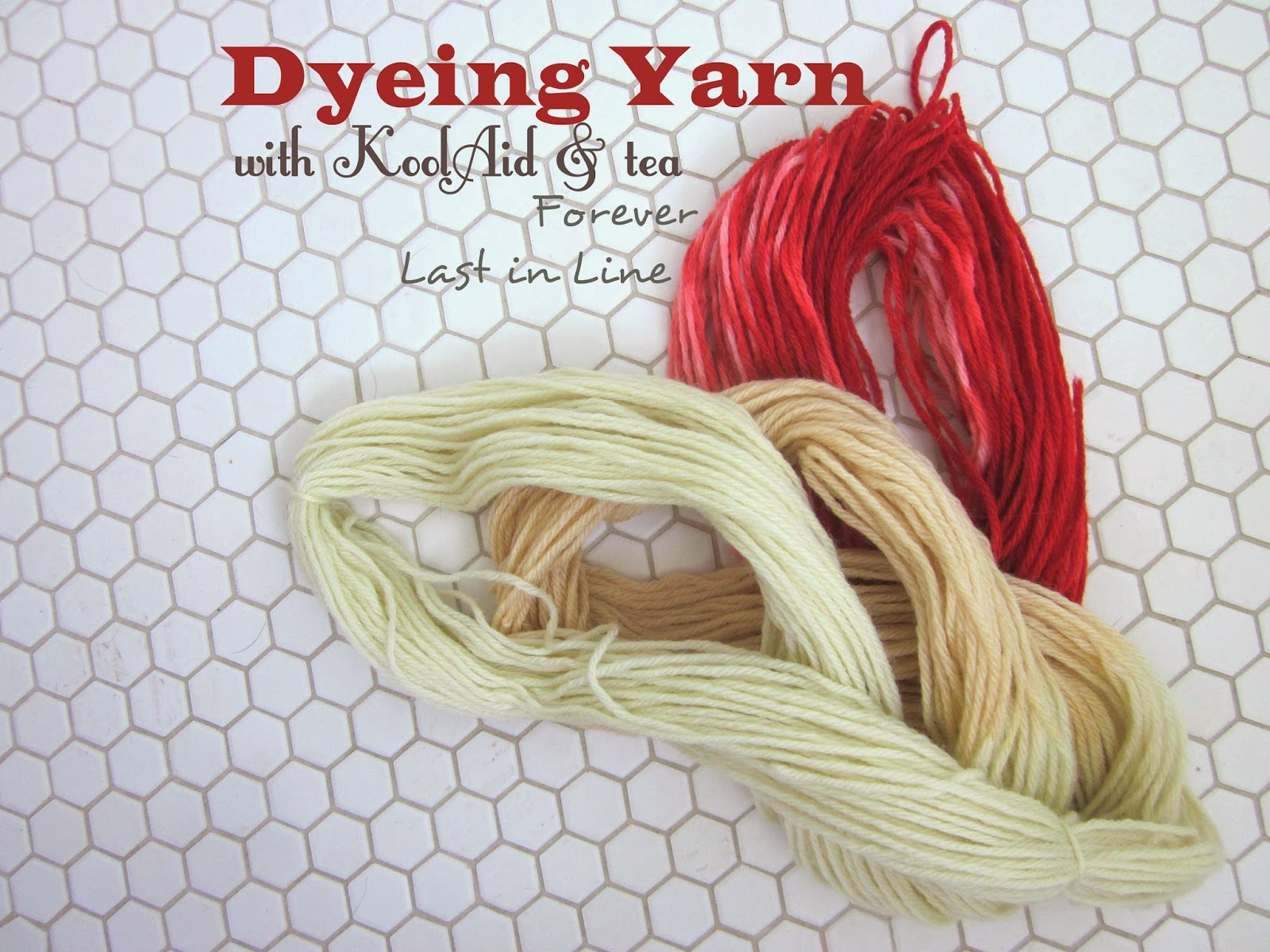 Last in Line: Dyeing Yarn with KoolAid or Tea