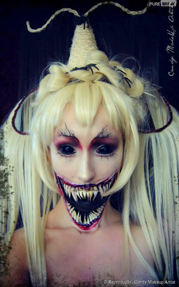 maquiagem para halloween feminina passo a passo