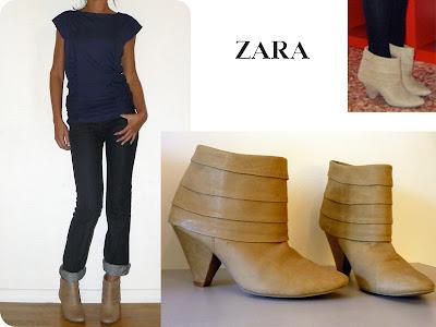 Boots beige ZARA