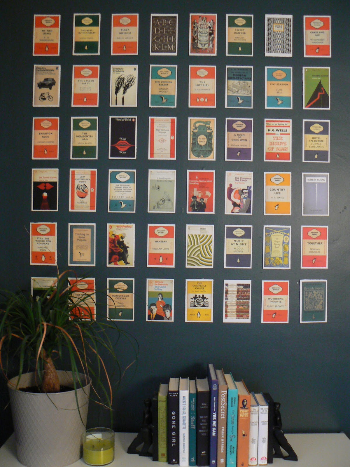 Penguin Book Cover Postcards ~ Diy postcard wall art little house design