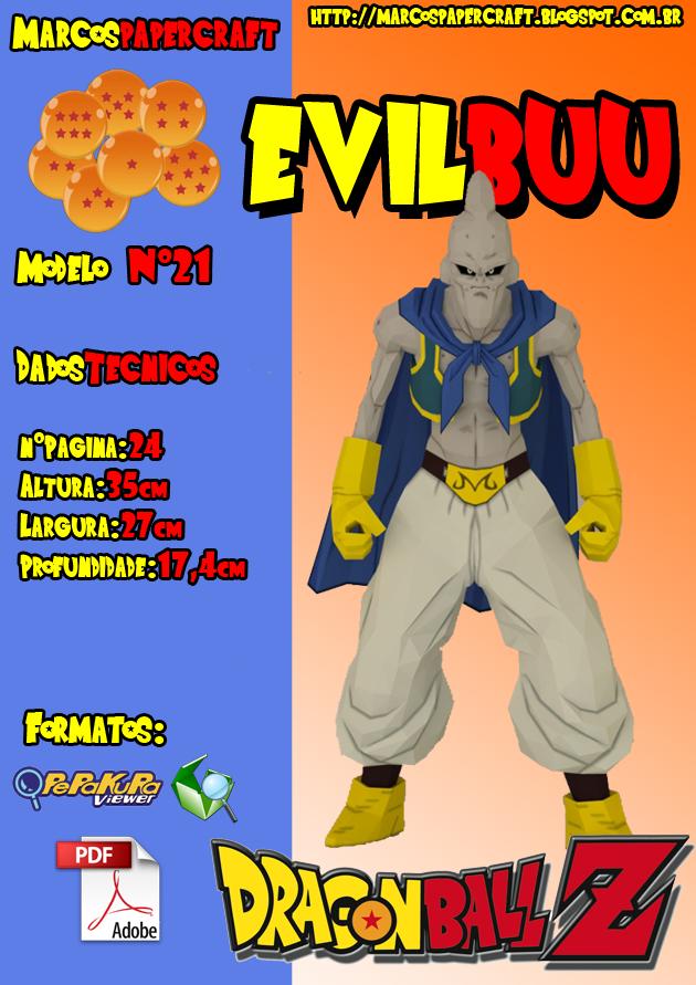 Evil Buu Papercraft