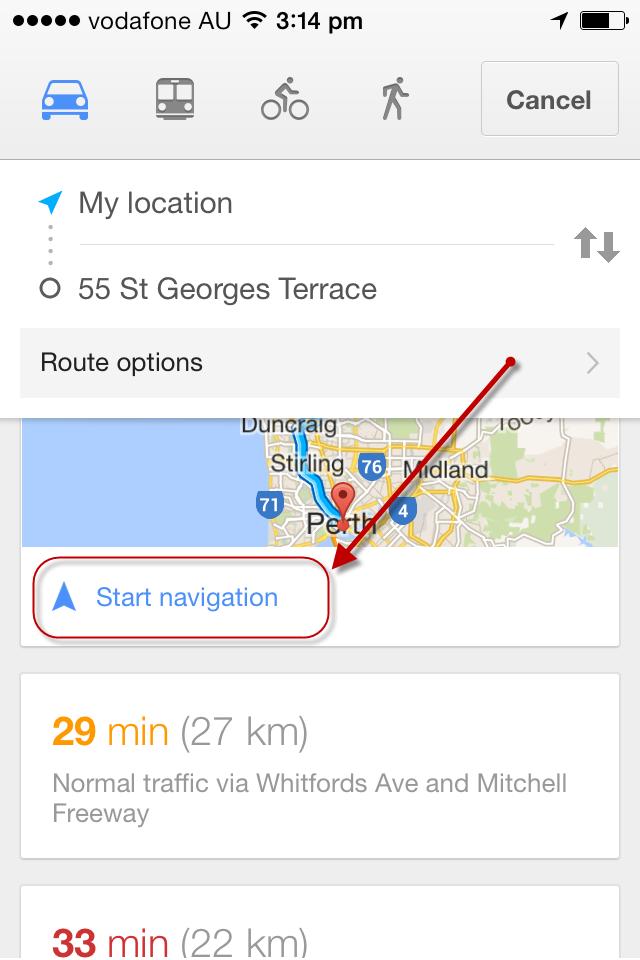 Iphone 5 google maps no voice